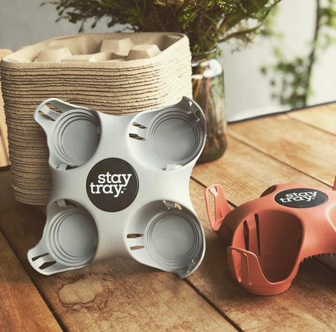 Stay tray Reusable Drinks Tray Plus One Bundle