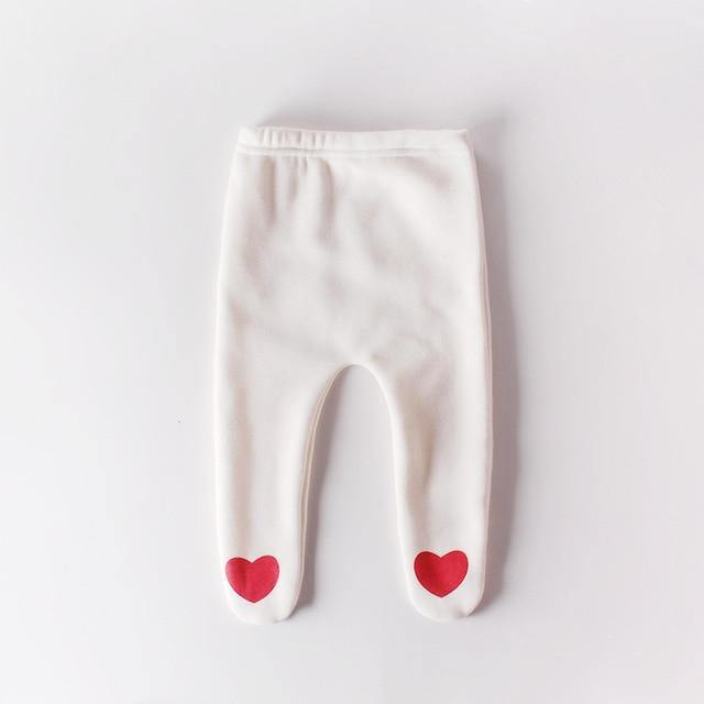 Autumn/Winter Style Baby leggings with Heart prints - LittleTheoryCo