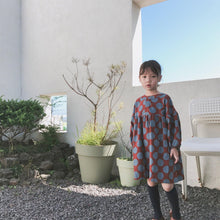 Load image into Gallery viewer, Korean Style Fashionable long sleeve dot print oversized red dress - LittleTheoryCo