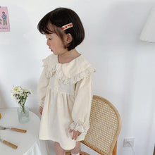 Load image into Gallery viewer, Autumn Style Stylish Lacework long sleeve turn-down collar dress - LittleTheoryCo