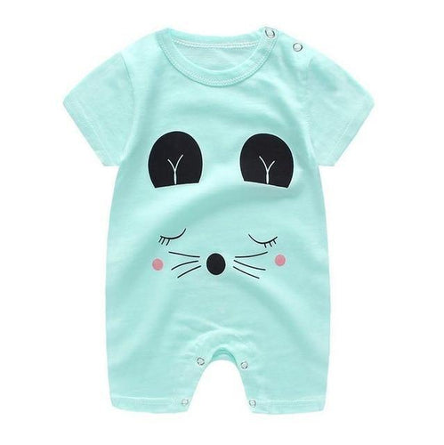 Animal Prints cotton baby romper with short sleeve - LittleTheoryCo