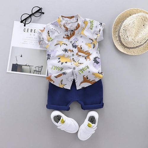 Summer Baby Boy Clothing set Shirt & Pants(Various designs) - LittleTheoryCo