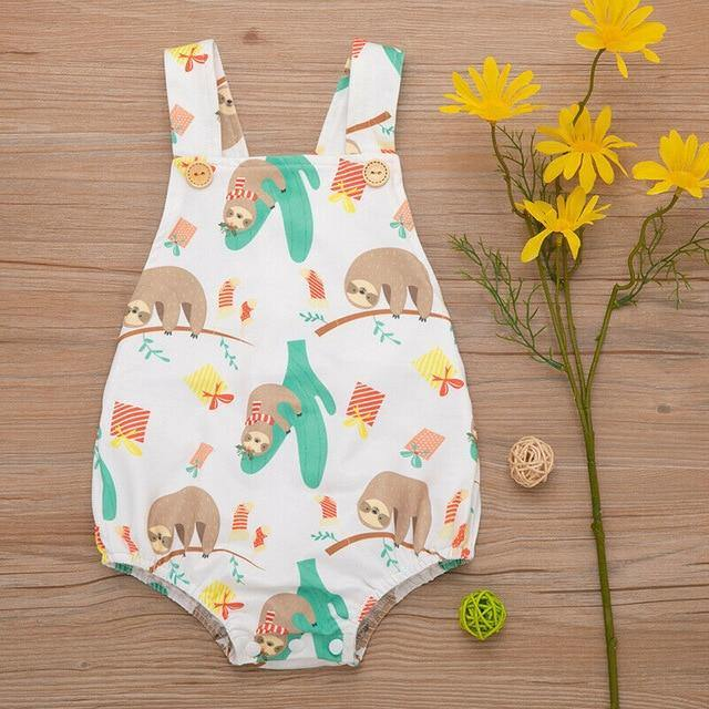 Summer Style Animal prints Sleeveless & Backless baby romper - LittleTheoryCo