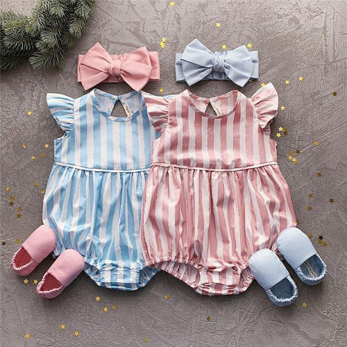 Summer Style Striped Sleeveless Rompers Toddler & Infant one piece - LittleTheoryCo
