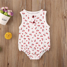 Load image into Gallery viewer, Summer Baby Girl Sleeveless Romper with prints - LittleTheoryCo