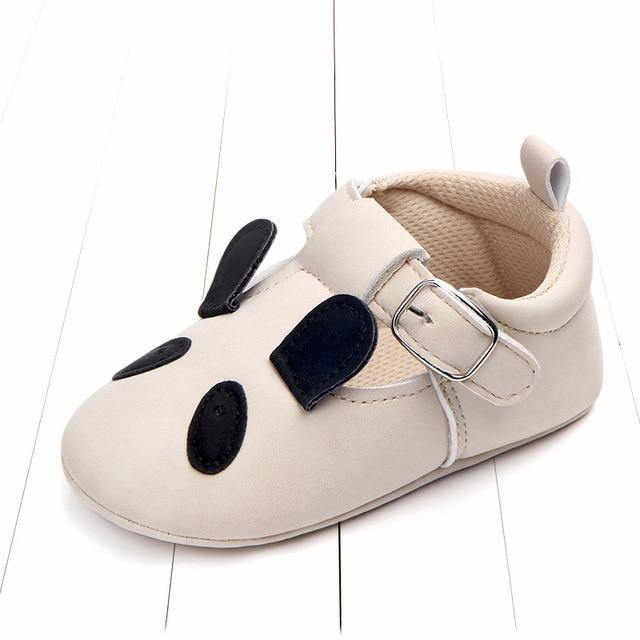 White Moccasins toddler shoes(Panda) - LittleTheoryCo