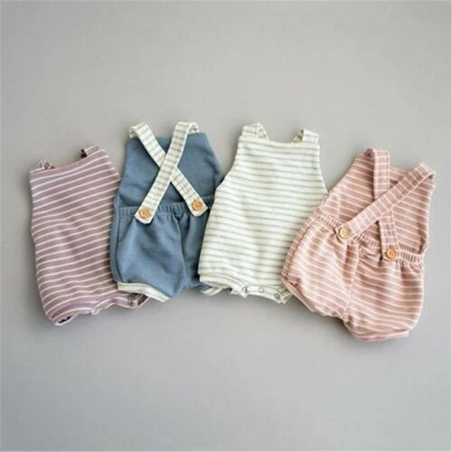 Fashionable Summer Style Baby Romper Sleeveless & Backless - LittleTheoryCo