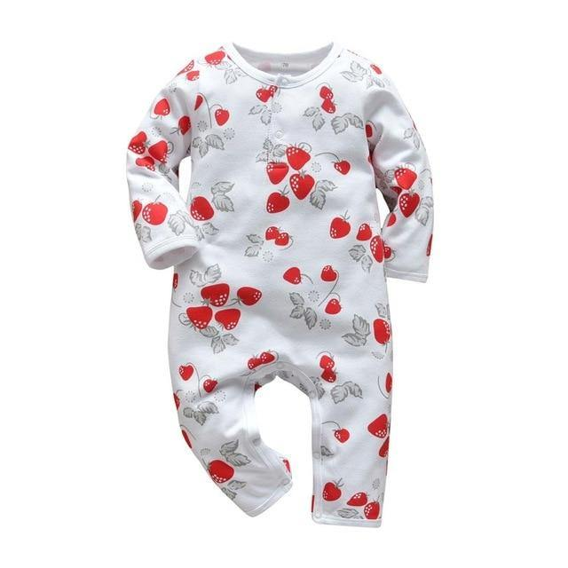 Strawberry prints Spring/Summer Style Baby jumpsuit - LittleTheoryCo