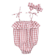 Load image into Gallery viewer, Limited Edition Summer Baby girl plaid design Romper - LittleTheoryCo