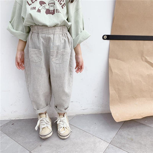 Korean Style Striped casual pants - LittleTheoryCo