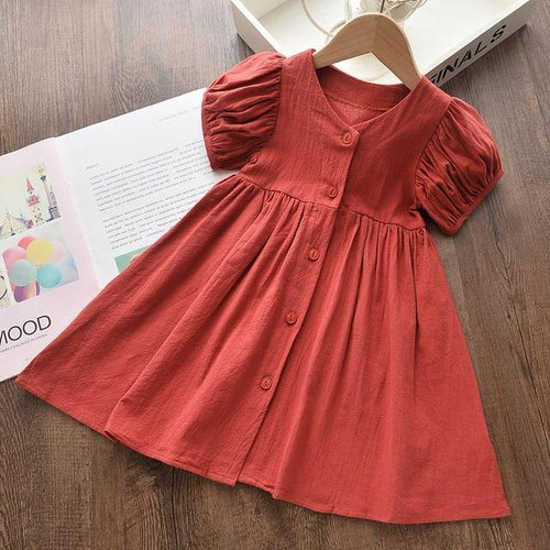 Summer Girly fashion style dress with Sleeve - LittleTheoryCo