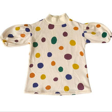 Load image into Gallery viewer, Autumn/Winter Style Colorful dot prints puff sleeve Dress - LittleTheoryCo