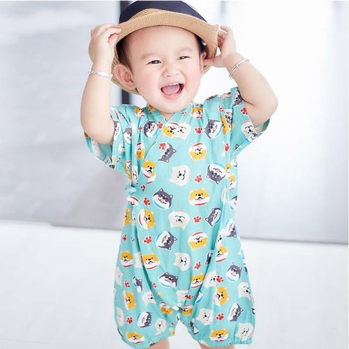 Adorable prints Japanese Stylish Kimono Jumpsuit - LittleTheoryCo
