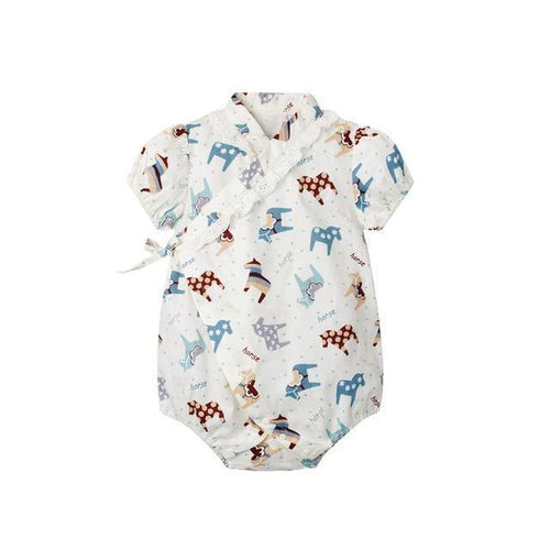 Animal prints Japanese Stylish Kimono Romper - LittleTheoryCo