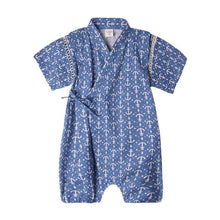 Load image into Gallery viewer, Blue classic Japanese Stylish Kimono Jumpsuit - LittleTheoryCo