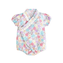 Load image into Gallery viewer, Flower prints Japanese Stylish Kimono Romper - LittleTheoryCo
