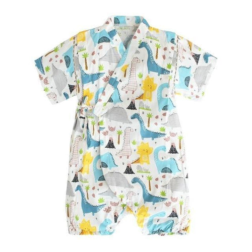 Cute prints Japanese Stylish Kimono Jumpsuit - LittleTheoryCo