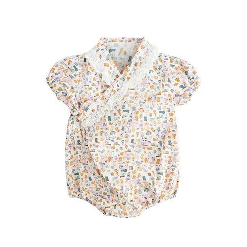 Cute prints Japanese Stylish Kimono Romper - LittleTheoryCo