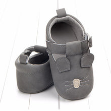 Load image into Gallery viewer, Mouse Moccasins toddler shoes(Dark Grey) - LittleTheoryCo