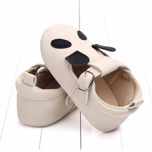 Load image into Gallery viewer, White Moccasins toddler shoes(Panda) - LittleTheoryCo
