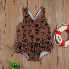 Load image into Gallery viewer, Brown One-Piece Beach Swim wear - LittleTheoryCo