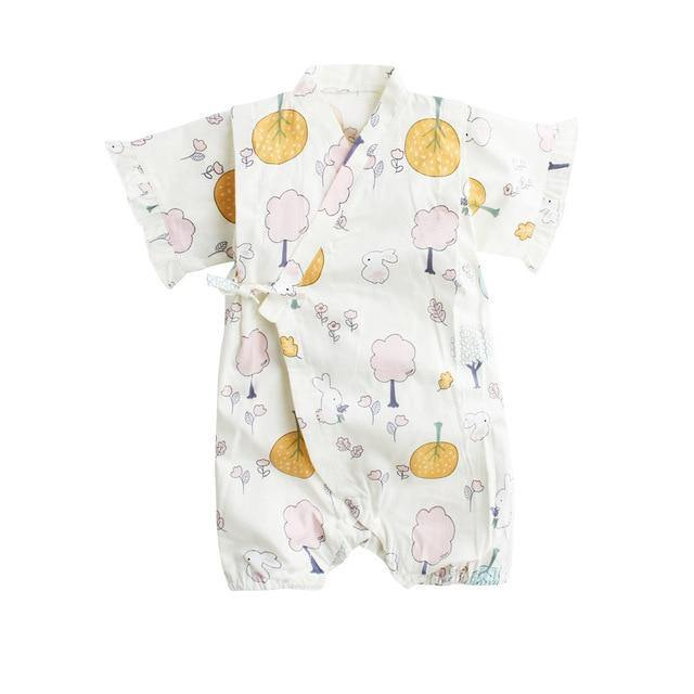 Japanese Stylish Kimono(Cute Rabbit Prints) - LittleTheoryCo