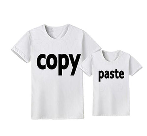 Family Look Matching Clothes Outfit(Parents & Kids) - Copy & Paste(White) - LittleTheoryCo
