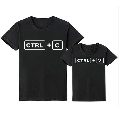Family Look Matching Clothes Outfit(Parents & Kids) - Ctrl c & Ctrl V(Black) - LittleTheoryCo