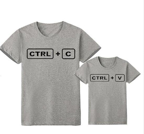 Family Look Matching Clothes Outfit(Parents & Kids) - Ctrl c & Ctrl V(Grey) - LittleTheoryCo