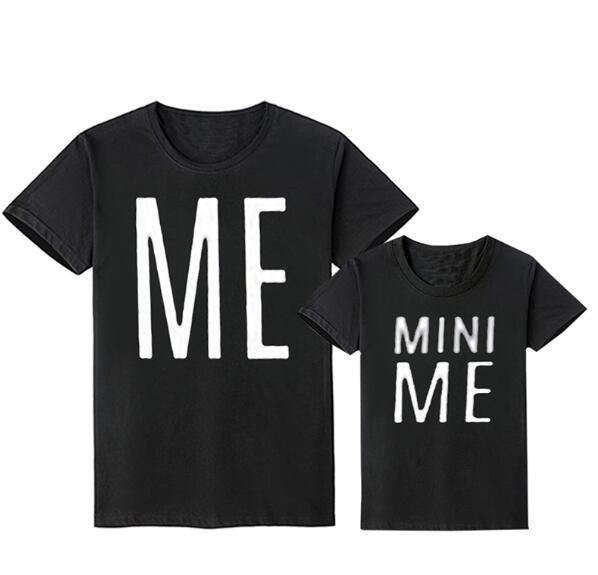 Family Look Matching Clothes Outfit(Parents & Kids) - ME & MINI ME Prints(Black) - LittleTheoryCo