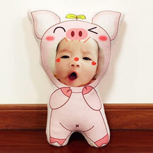 Load image into Gallery viewer, CUSTOMIZED Baby photo pillow with Pig Design(36cm,50cm,65cm) - LittleTheoryCo