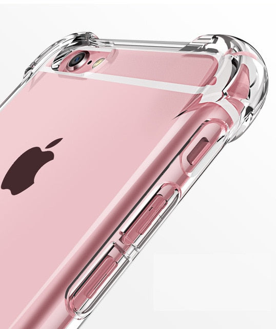 Siliconen hoesje voor iPhone 12 11 Pro X XR XS Max 5 5S 6 7 8 Plus Cover Transparent Cases For iPhone SE 2020 Shockproof Case Soft