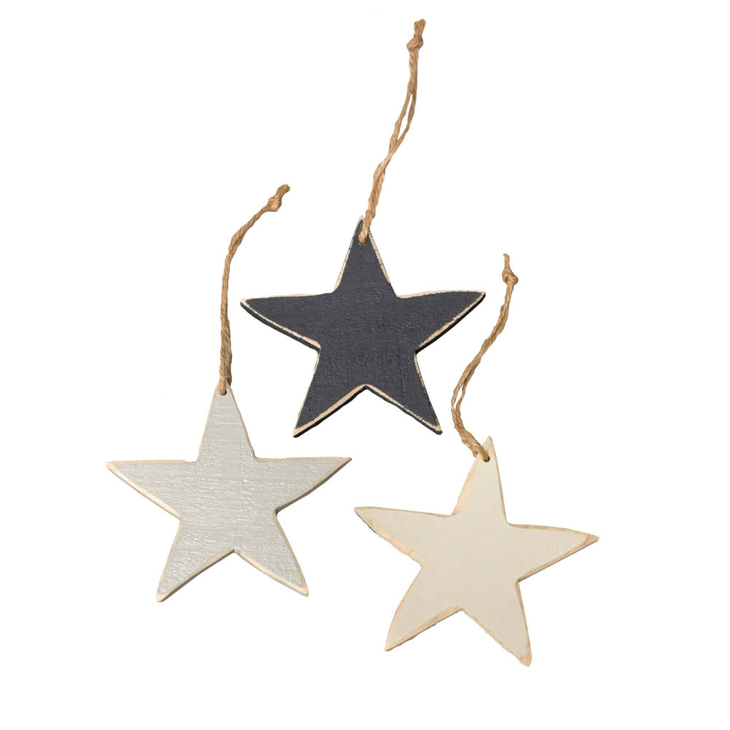 Large Wooden Star Ornaments