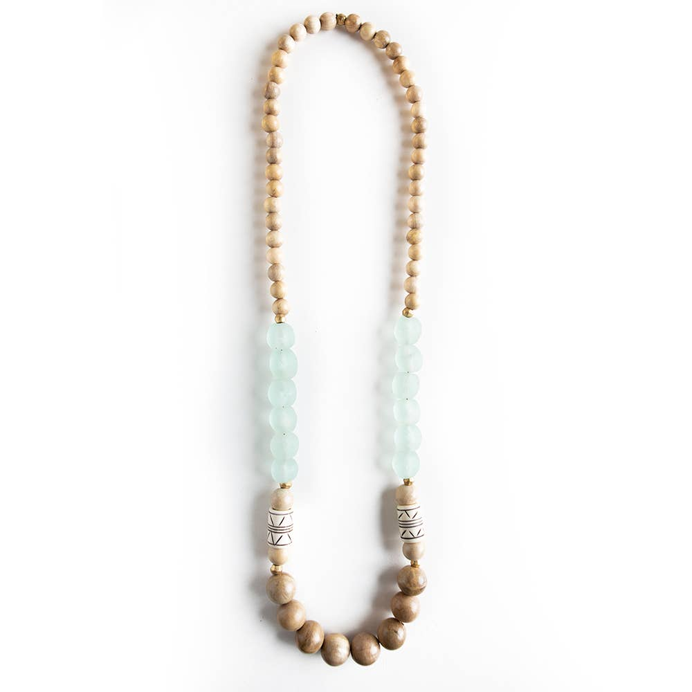 Oasis Necklace, Sand/Turquoise