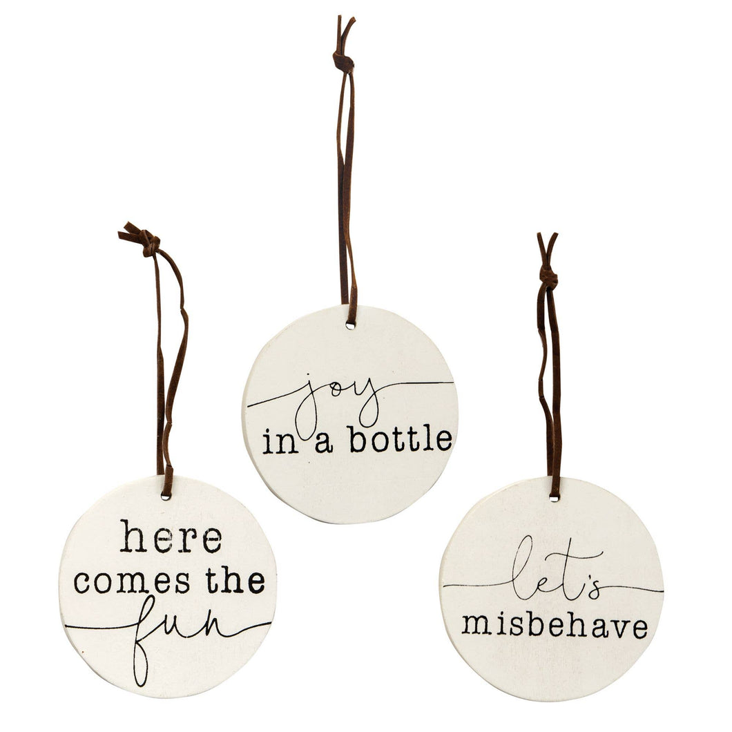 3/set, Here Comes the Fun Wine Tags
