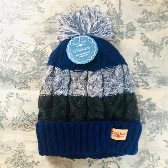 Kid's Plush lined Knit Toque