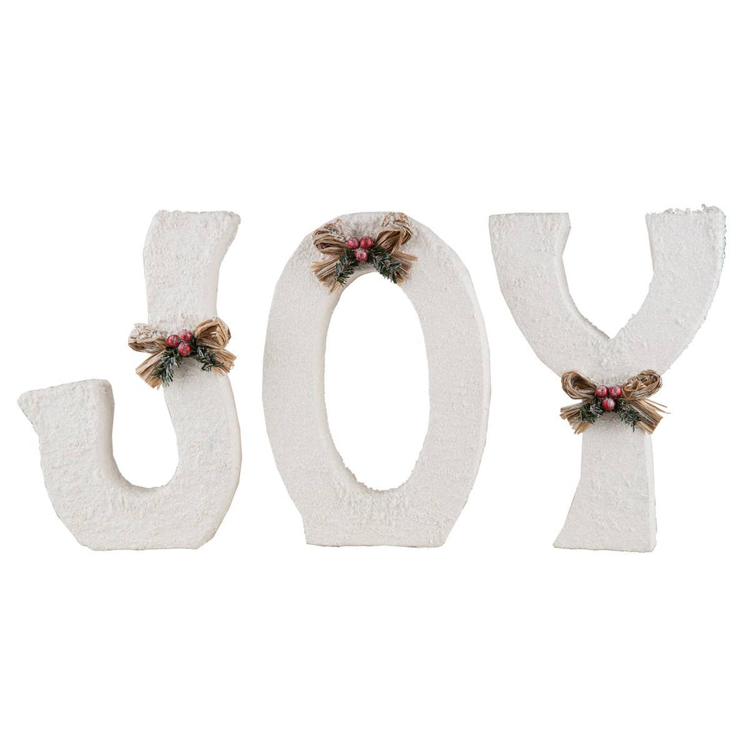 Winter White Joy Letters 12.25