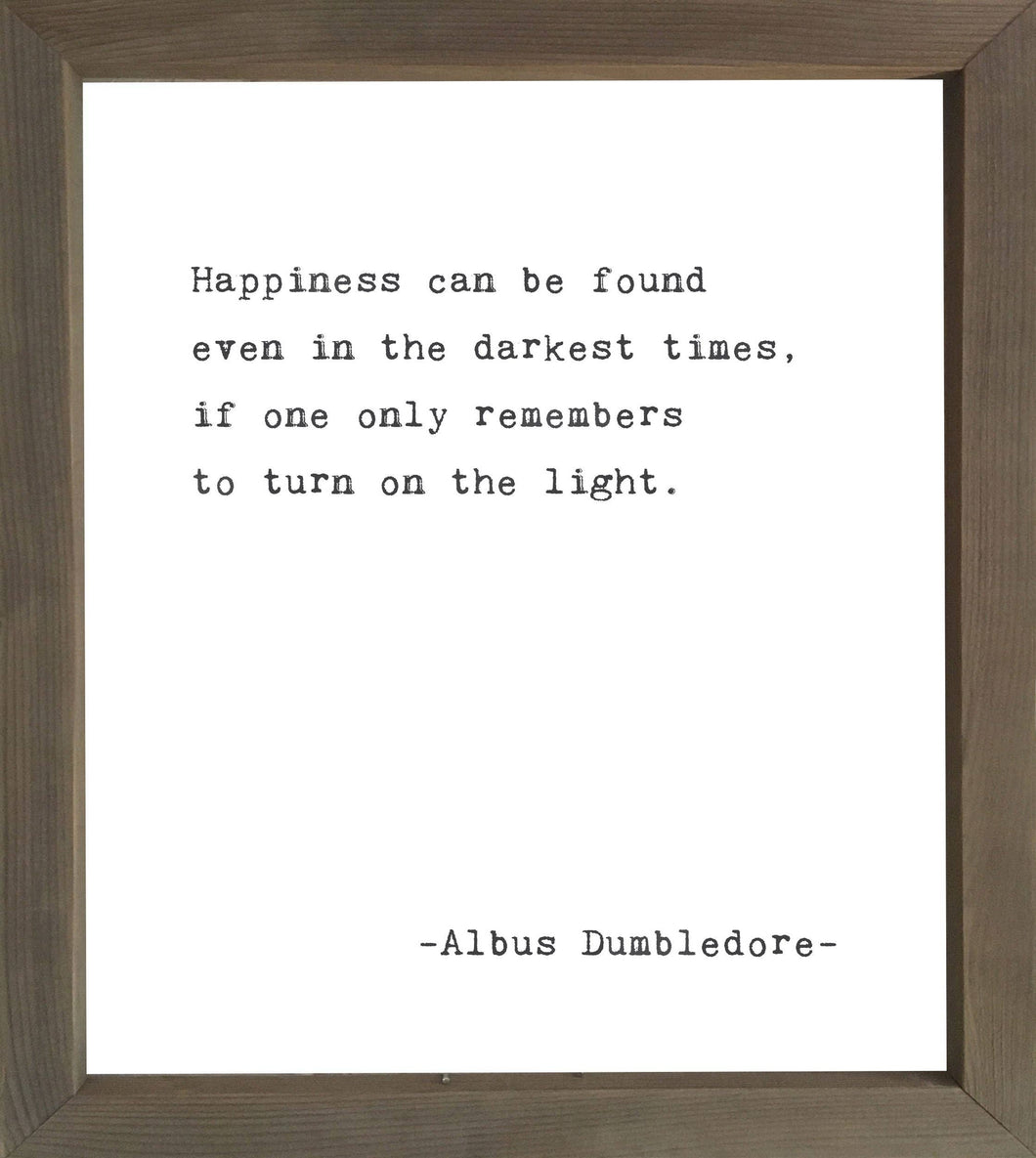 Happiness  - Framed Wall Art