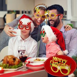 🎅🎅Christmas glasses frame costume party glasses(7/14 Pairs )