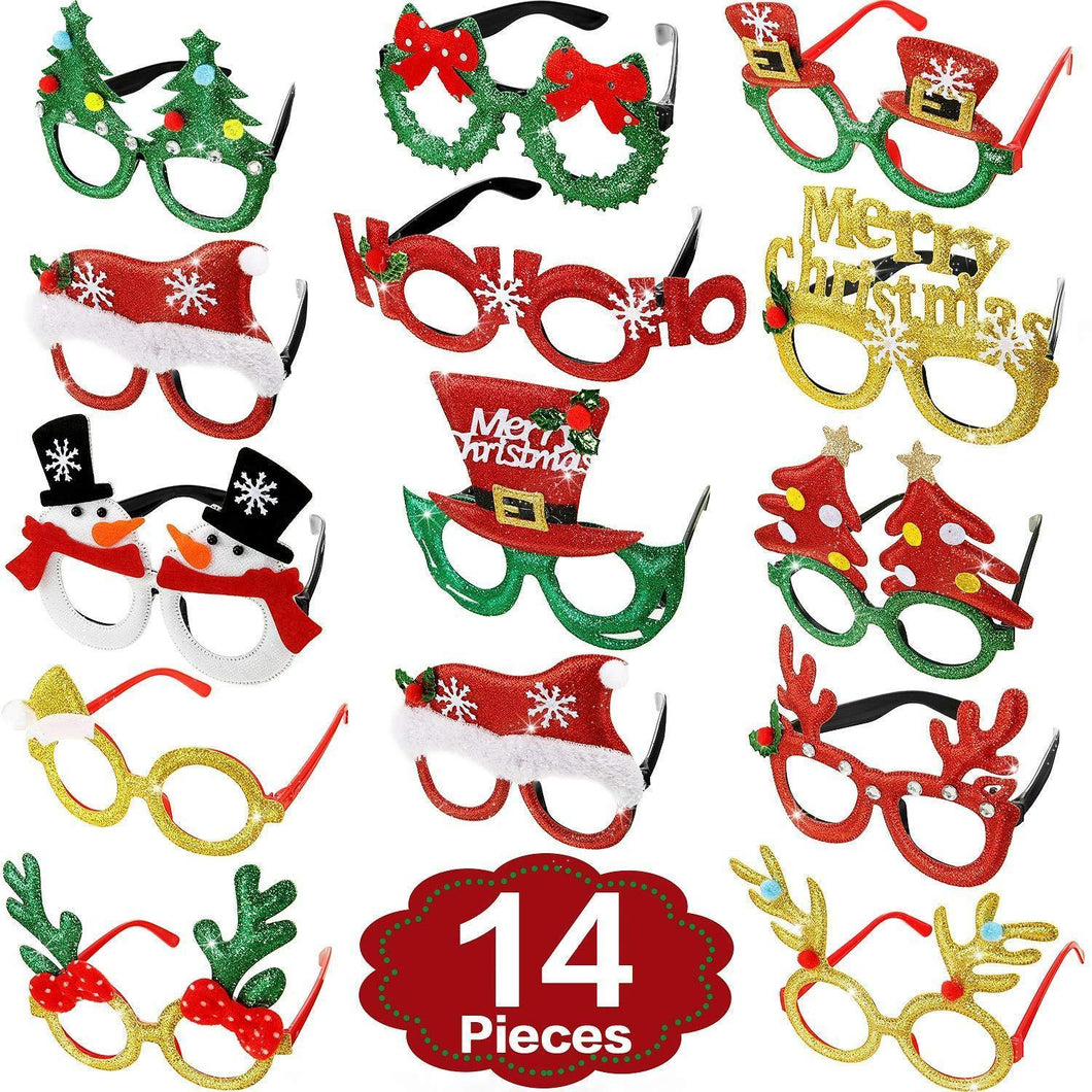 14 Pairs Christmas glasses frame costume party glasses