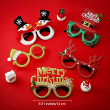 Load image into Gallery viewer, 14 Pairs Christmas glasses frame costume party glasses