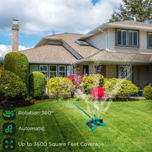 Load image into Gallery viewer, Rotating Lawn Sprinkler, Large Area Coverage Water Sprinklers for Lawns and Gardens