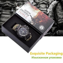 Load image into Gallery viewer, 8 in 1 Outdoor Multi functional Waterproof Military Tactical Paracord Watch Bracelet(With Gift Box)