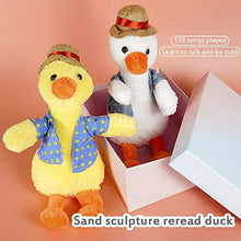 Load image into Gallery viewer, Repeat duck(Repeat duck kids learn to speak educational toy electric plush doll)