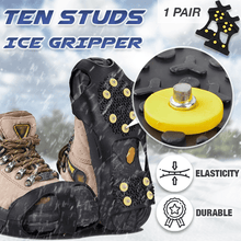 Load image into Gallery viewer, 10 Studs Ice Gripper Spike Anti-Skid (1 Pair)