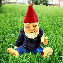 Load image into Gallery viewer, Funny Garden Road Rage Biker Gnome Statue