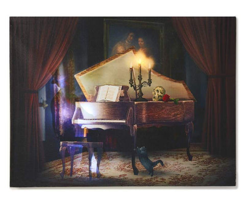 LED & Sound Haunted Piano Canvas