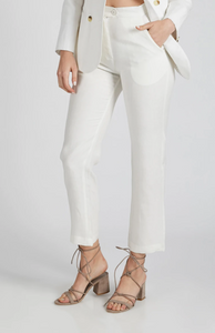 Tailored White Trousers