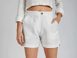 Tailored White Shorts