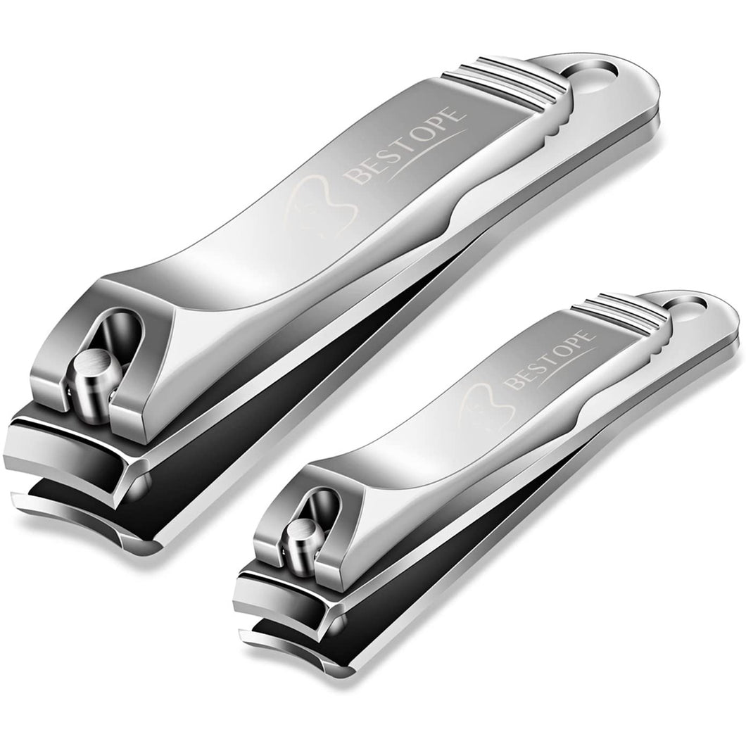 BESTOPE 2pcs Nail Clippers Stainless Set
